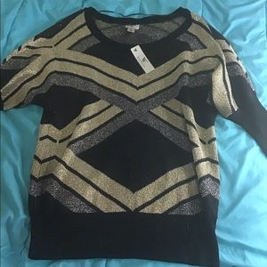 Gold silver and black dressy shirt new with tags